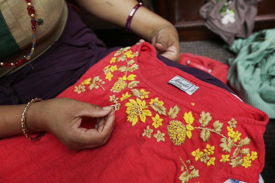 Výroba fair trade oblečení