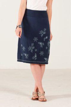 Modrá sukně s bílou výšivkou Nomads