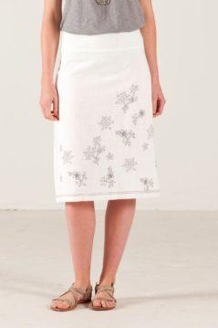 Bílá sukně s modrou výšivkou Nomads