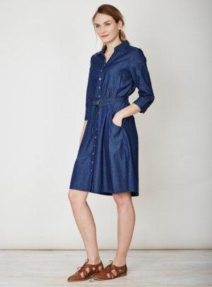 Košilové šaty Frances Braintree Thought z chambray biobavlny