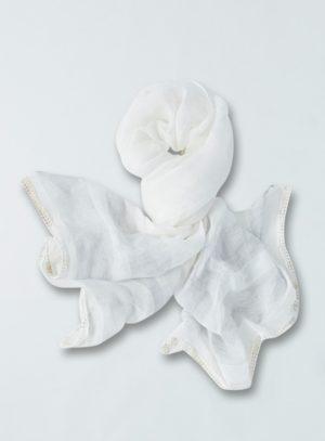 Konopný šátek Adira Thought bílý