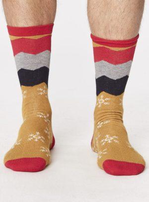 spm278-snowflake-socks-mustard-front-close-both-feet-spm278mustard.1504780783