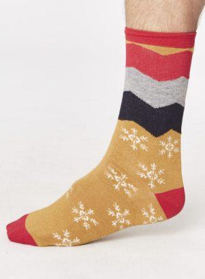 spm278-snowflake-socks-mustard-side-one-foot-spm278mustard.1504780787