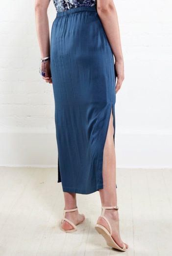 maxi sukně modrá