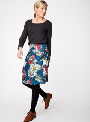 WWB3940-RIVER-BLUE--Dalloway-Tencel-Flower-Print-Skirt-0001.jpg