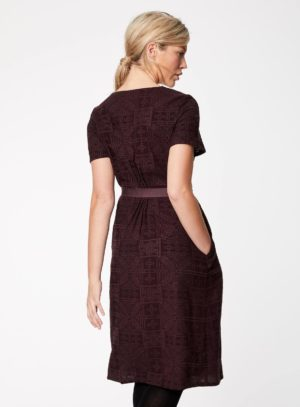 WWD3766-AUBERGINE--Artina-Aubergine-Belted-Waist-Rayon-Dress-0006.jpg