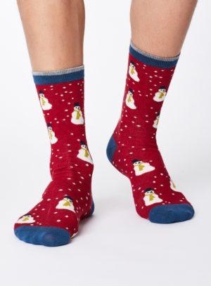 SPM341-CHRISTMAS-RED--Snowman-Christmas-Bamboo-Socks-for-Men-0002.jpg