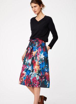 WWB3901-GARNET-PINK--Flower-Palette-Tencel-Floral-Print-Skirt-0009.jpg