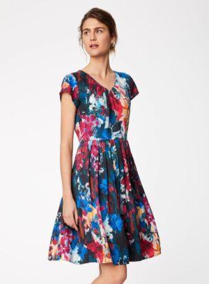 WWD3899-GARNET-PINK--Flower-Palette-Tencel-Floral-Pront-Dress-0003.jpg