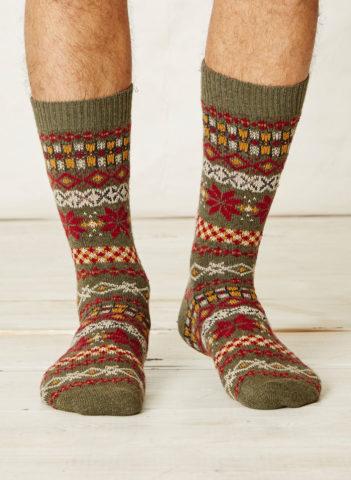 Thought vlněné ponožky mekali zelené