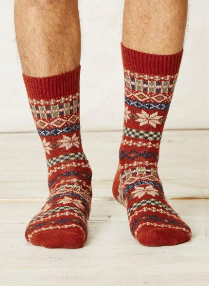 Thought vlněné ponožky mekali červené