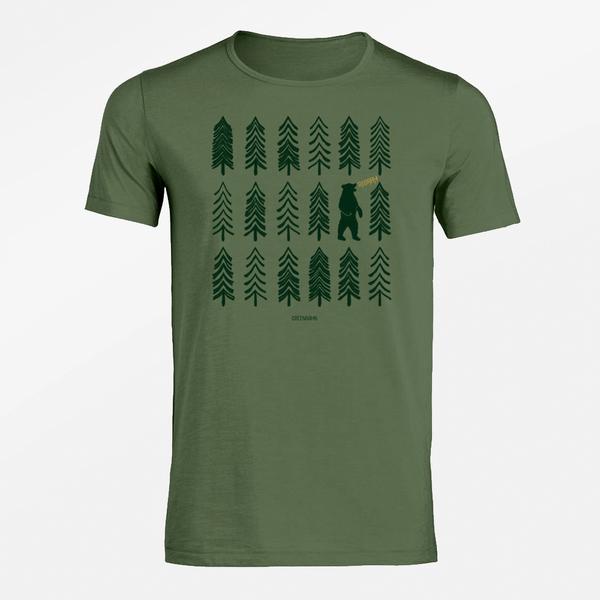 tričko stromy medvěd