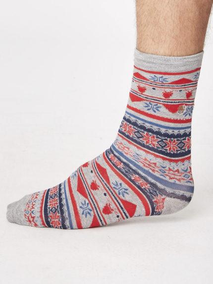 Thought vánoční bambusové ponožky jingle šedé
