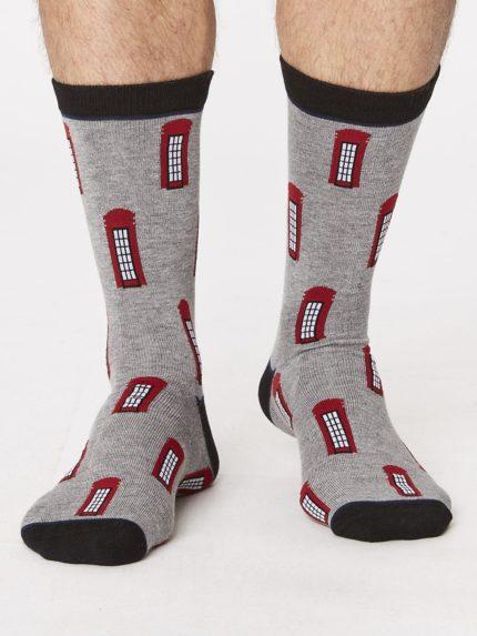 bambusové ponožky london phone box