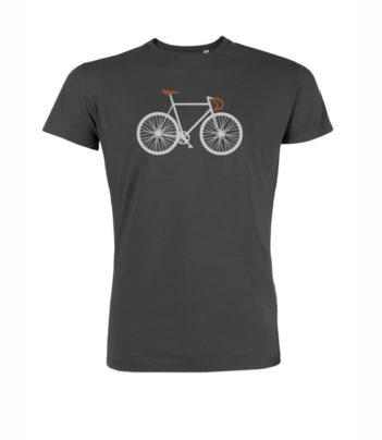 greenbomb tričko bike two šedé bio bavlna 2