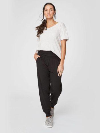 cerne volnocasove bambusove kalhoty dashka thougth WWB3690 2