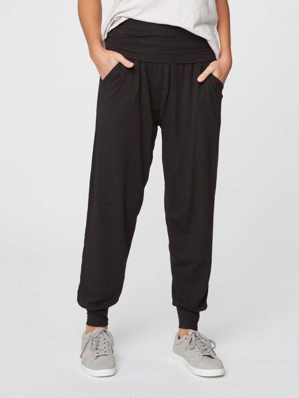 cerne volnocasove bambusove kalhoty dashka thougth WWB3690 3