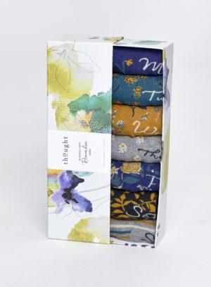 dárkové balení bambusových ponozek floral thought SBW4234 1