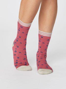 damske bambusove ponozky s vlastovkami ruzove thought SPW366 2