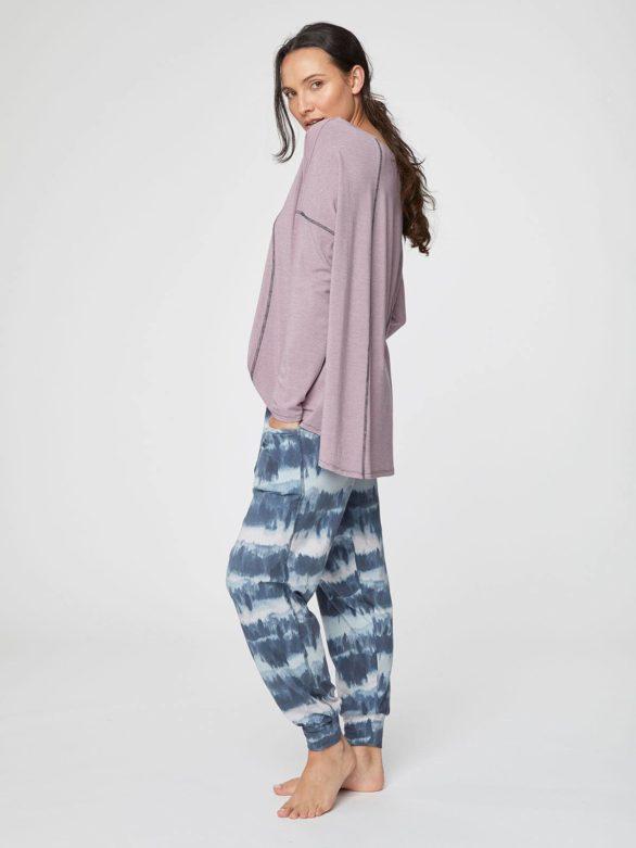 jogove kalhoty Ingryd modre z bambusu a bio bavlny thought WSB3977 5