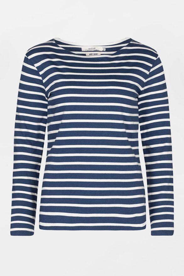 modry pruhovany namornicky top z bio bavlny sailor seasalt V1 WM16886_2