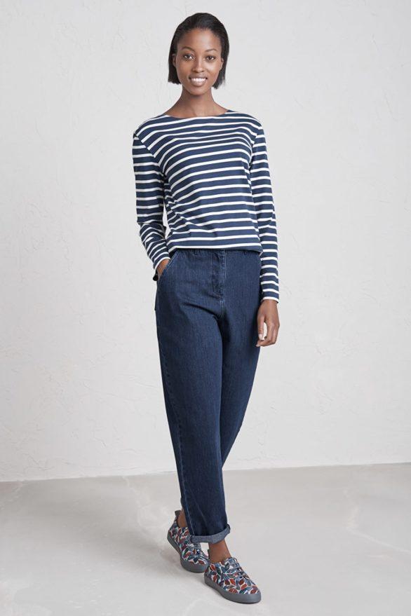 modry pruhovany namornicky top z bio bavlny sailor seasalt V1 WM16886_4