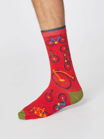 panske bambusove ponozky s kolem bicycle cervene thought SPM378 3.jpg