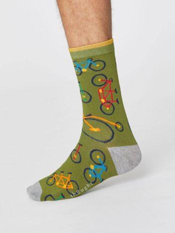 panske bambusove ponozky s kolem bicycle zelene thought 3.jpg