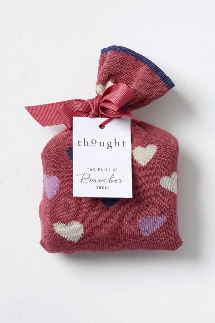 valentynske cervene ponozky se srdicky love hearts thougth SBW4244 1.jpg