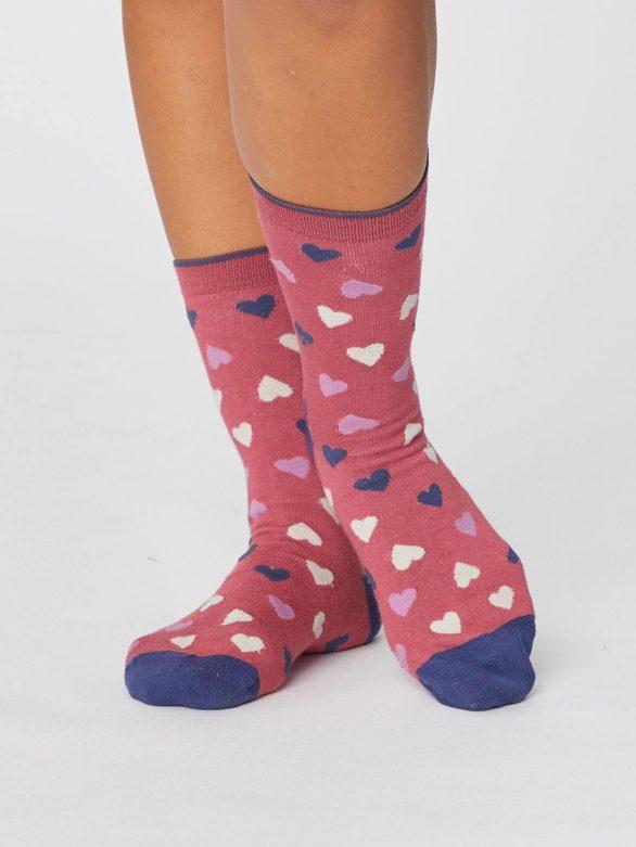 valentynske cervene ponozky se srdicky love hearts thougth SBW4244 5.jpg