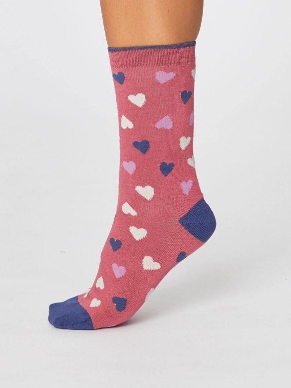 valentynske cervene ponozky se srdicky love hearts thougth SBW4244 6.jpg
