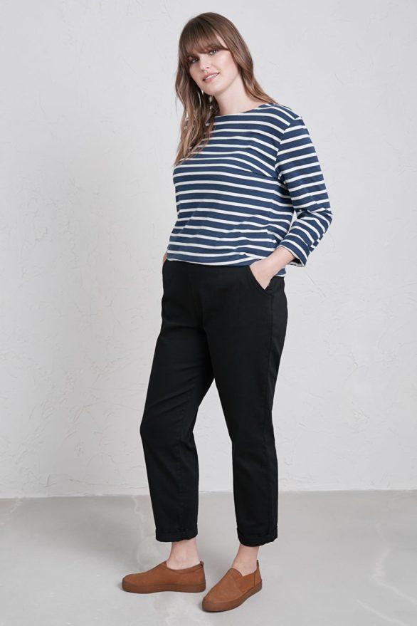 Top Sailor z bio bavlny modrý