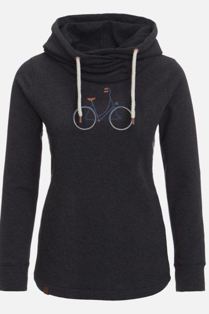 Mikina z bio bavlny Bike Femme černá