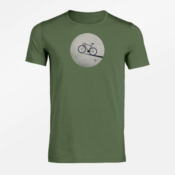 Tričko Bike Moon zelené