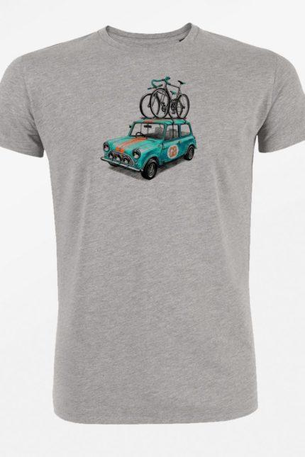 Tričko Bike Rallye šedé bio greenbomb