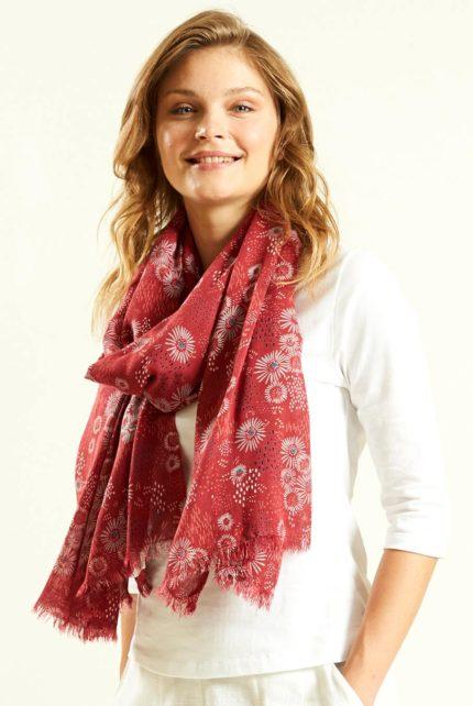 Šátek Daisy červený