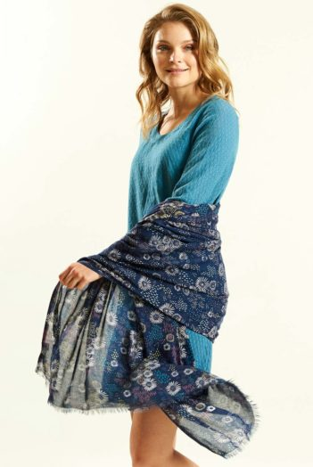 Šátek Daisy modrý