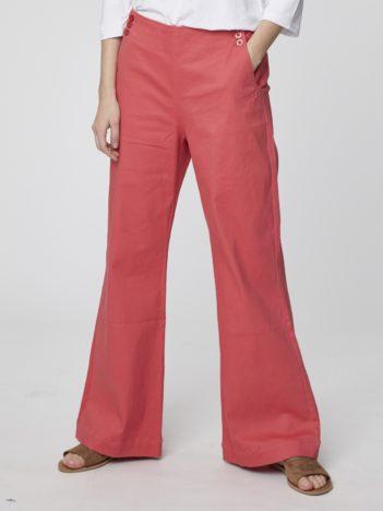 kalhoty zvonace ruzove bio bavlna camile thought 3.jpg