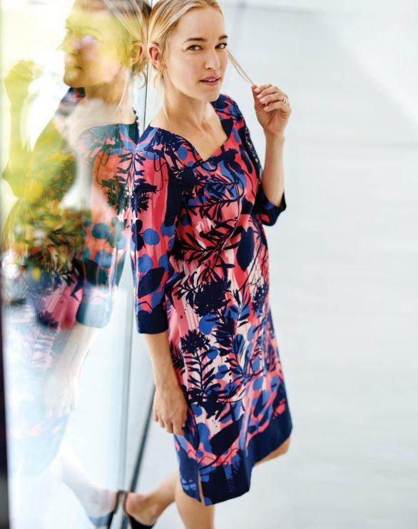 Tencelové tunikové šaty Bernice
