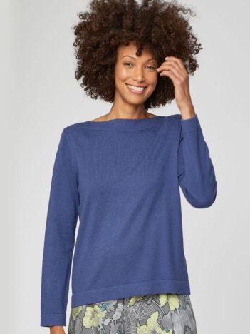 modry svetr z biobavlny grehta thought 1