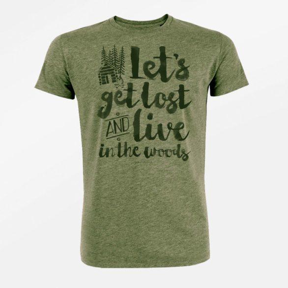 Tričko z biobavlny Nature Get lost zelené greenbomb
