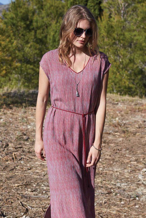 růžové maxi šaty nomads 1