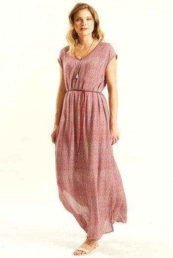 růžové maxi šaty nomads 2