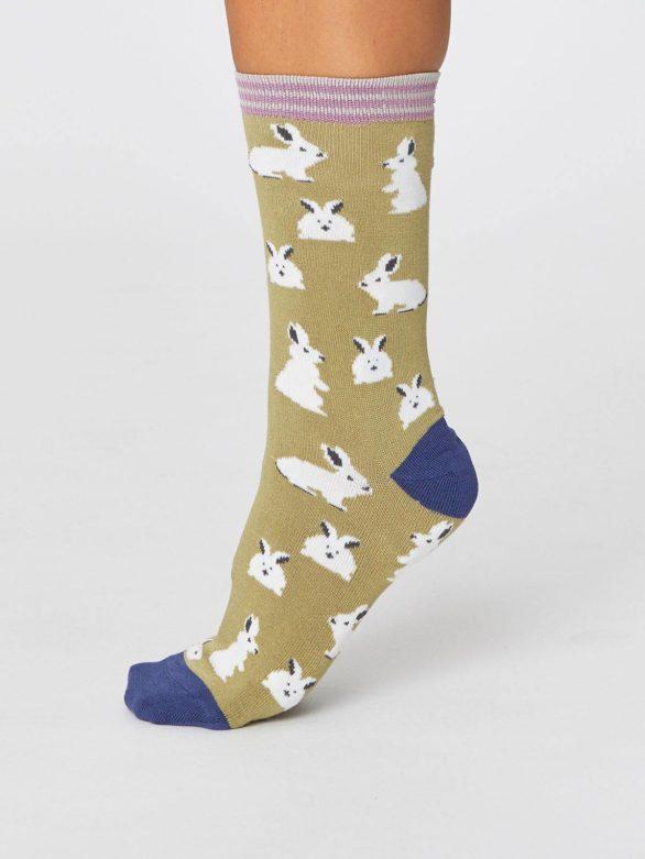 Dvojbalení bambusových ponožek Bunny Rabbit