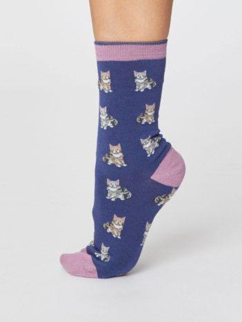 Trojbalení bambusových ponožek Cats and Dogs