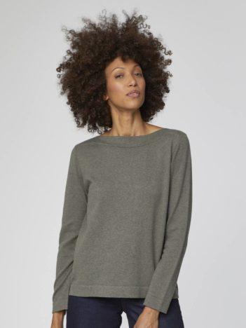 sedy svetr z biobavlny grehta thought 1