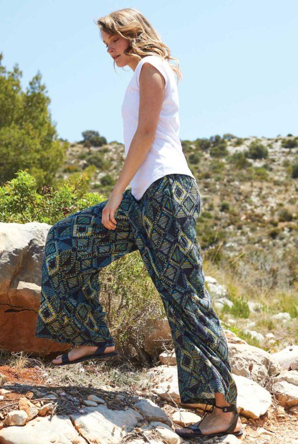 siroke kalhoty z viskozy nomads 1
