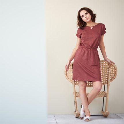 Lněné šaty Ema červené