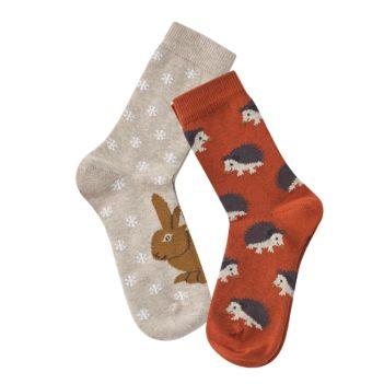 Dvojbalení dětských ponožek Bear s ježky a králíkem