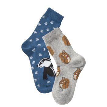 Dvojbalení dětských ponožek Bear s veverkami a jezevcem